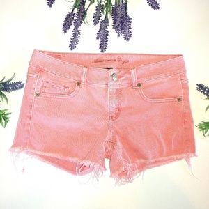 American Eagle Outfitters Pink Denim Shorts Size 4